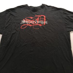 2006 Shinedown Tee Rock Band Graphic T Shirt XXL